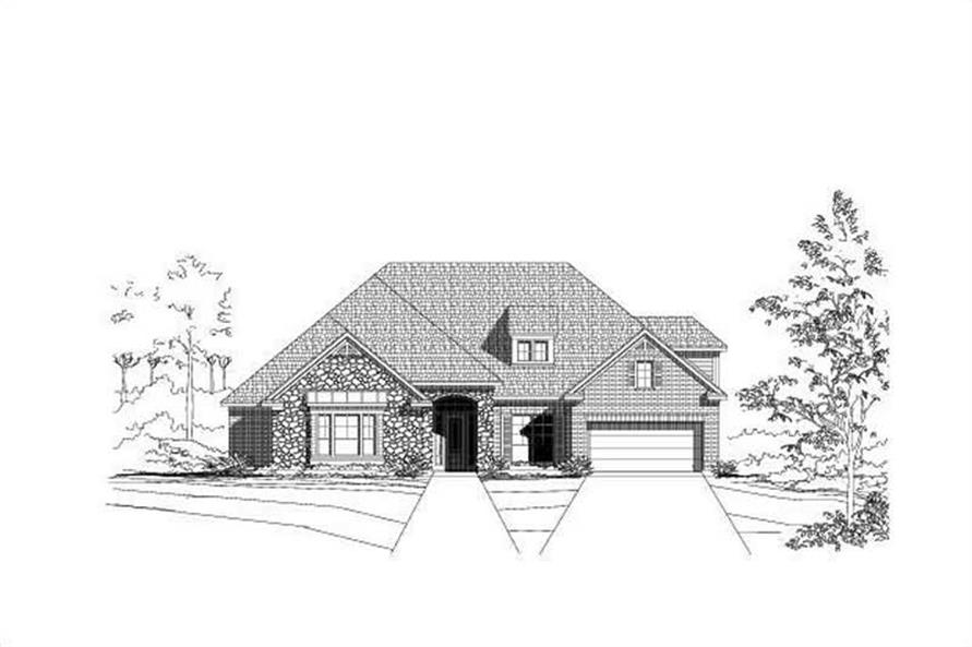 Main image for house plan # 19267