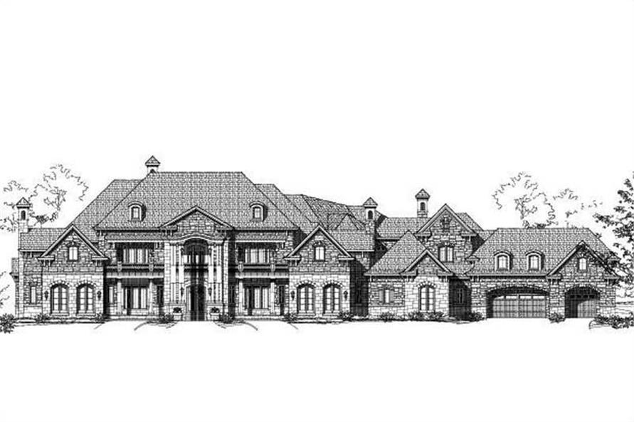 Rendering for Luxury House Plans.