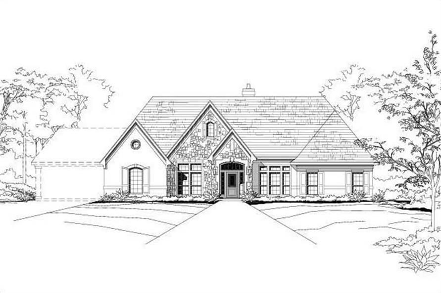 Main image for house plan # 15098