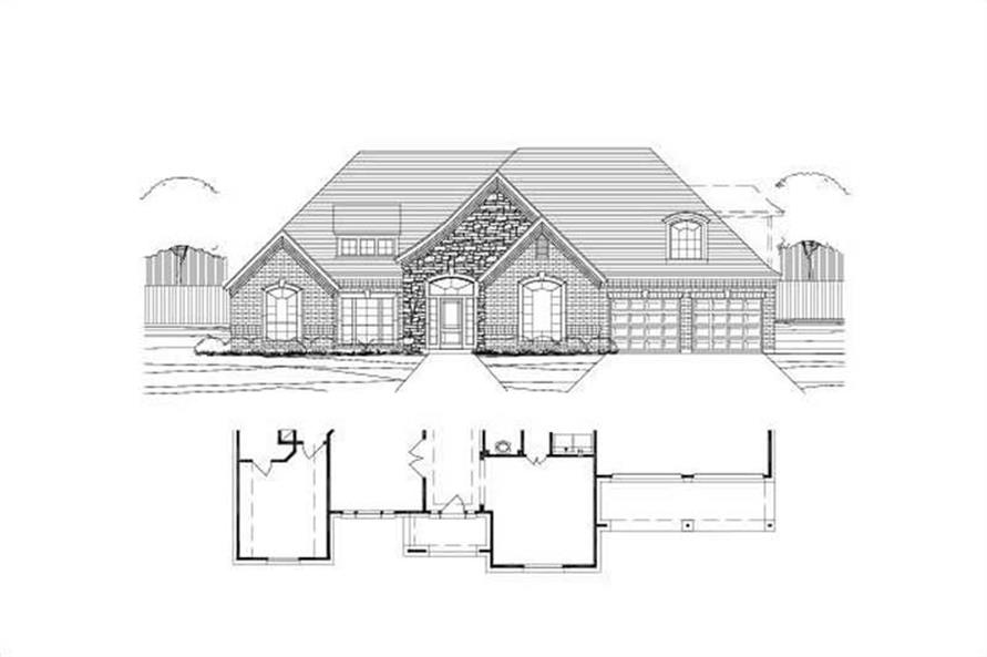 Main image for house plan # 15085