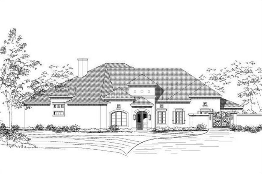 Main image for house plan # 15492