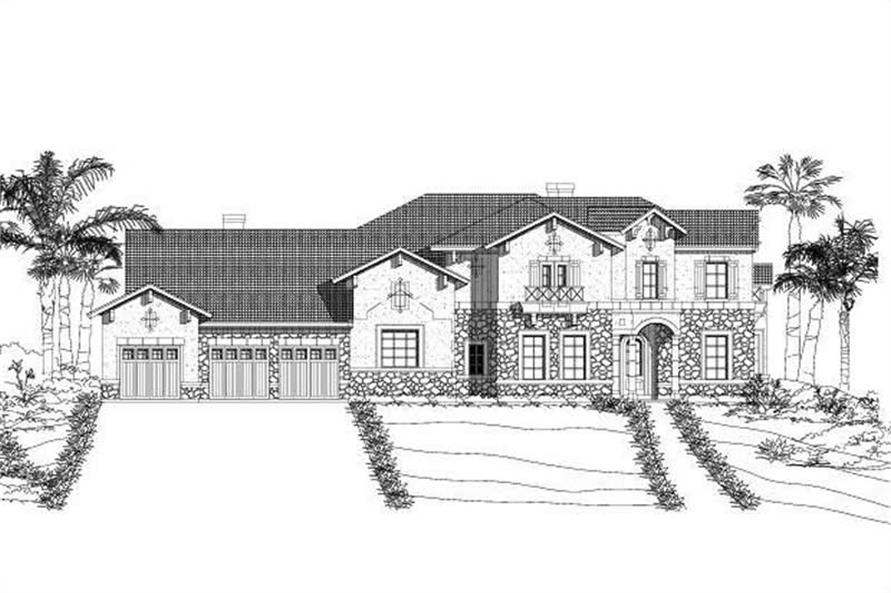 Main image for house plan # 15599