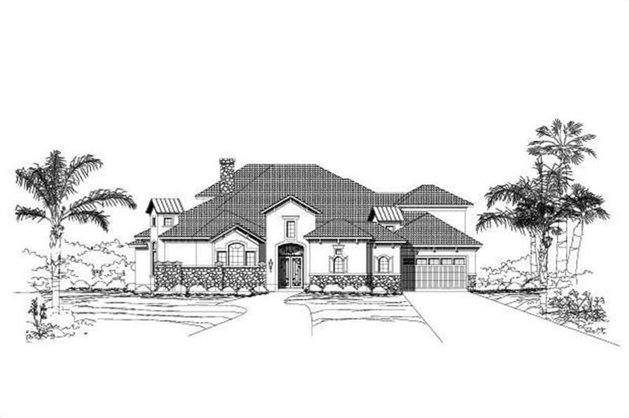 Main image for Mediterranean house plans # 19572