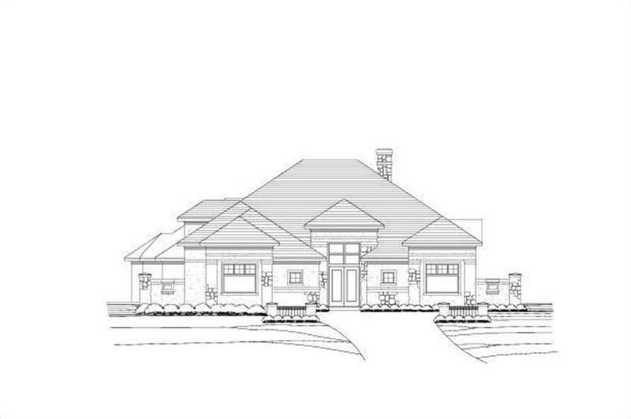 Main image for house plan # 19563