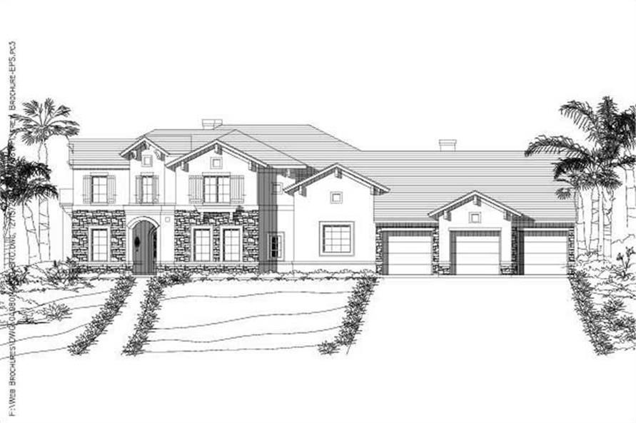 Main image for house plan # 15318