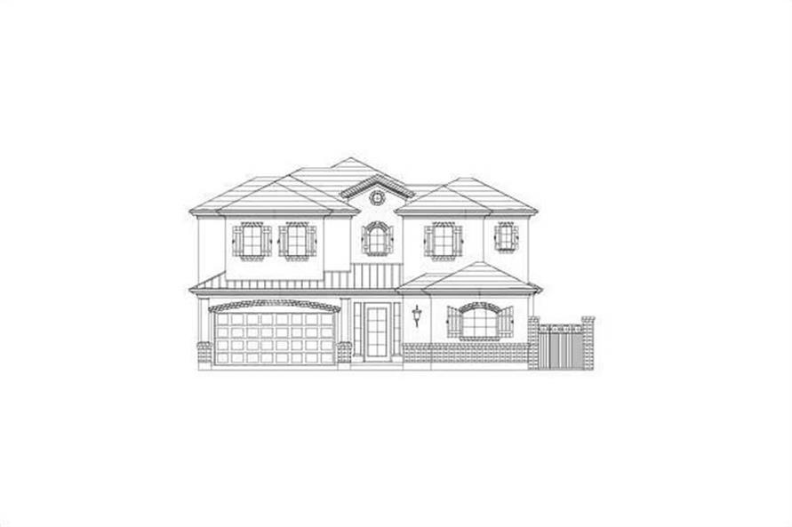Main image for house plan # 15748