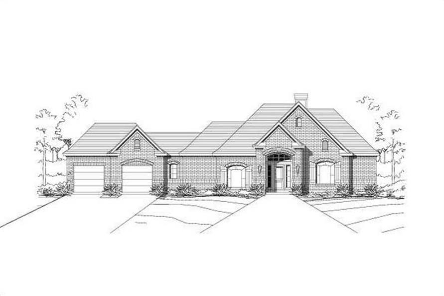 Main image for house plan # 15010