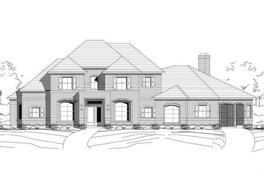 Main image for house plan # 15014