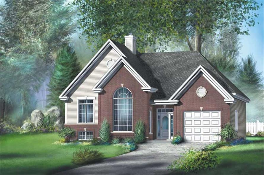 Main image for house plan # 12755