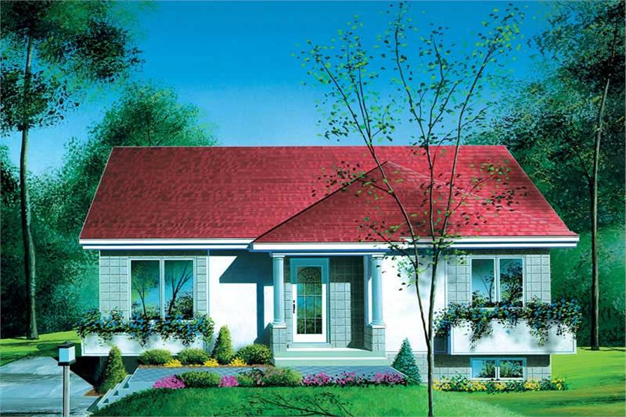 Main image for house plan # 12498