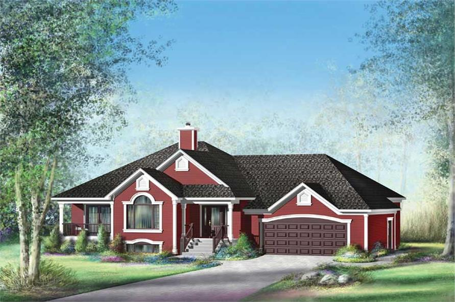 Main image for house plan # 12757