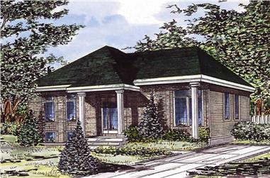 3-Bedroom, 974 Sq Ft Ranch Home Plan - 158-1008 - Main Exterior