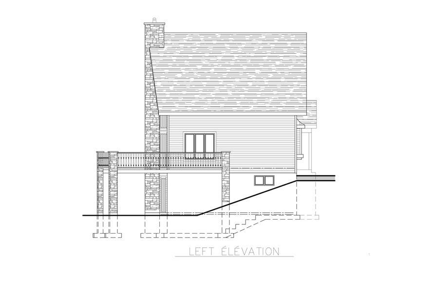 158-1255: Home Plan Left Elevation