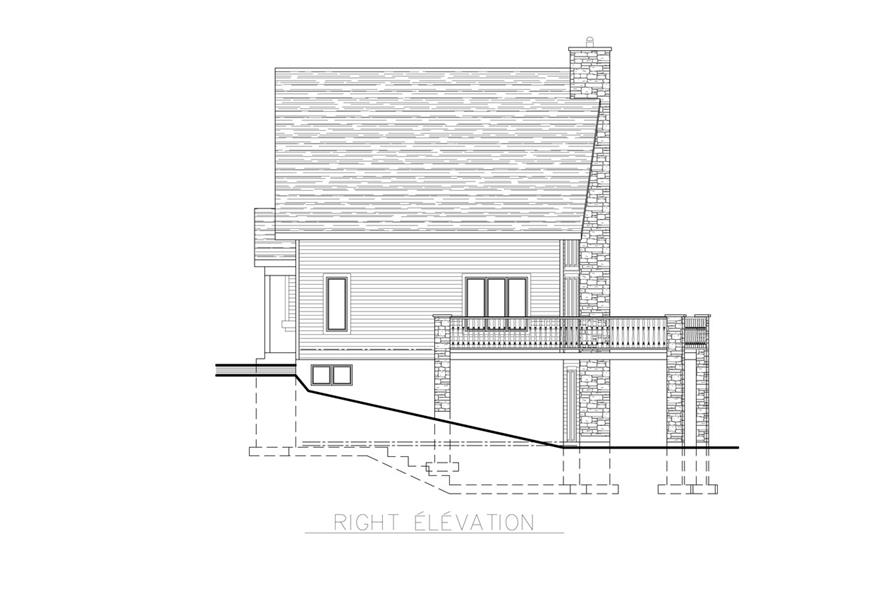 158-1255: Home Plan Right Elevation