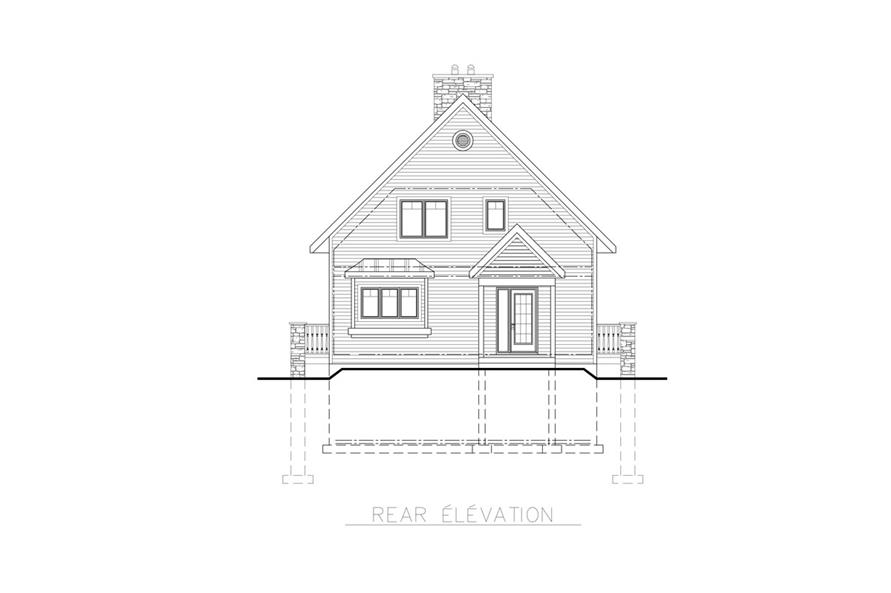 158-1255: Home Plan Rear Elevation