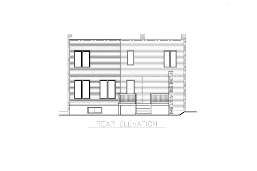 158-1256: Home Plan Rear Elevation