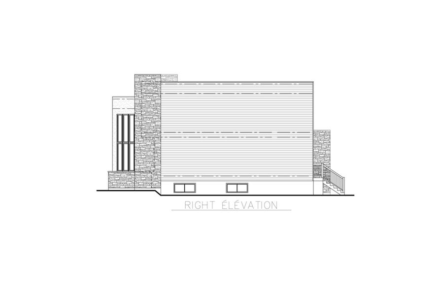 158-1256: Home Plan Right Elevation