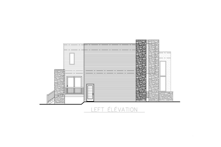 158-1256: Home Plan Left Elevation