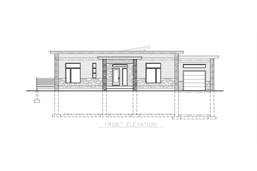 158-1257: Home Plan Front Elevation