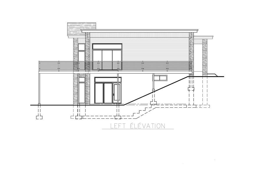 158-1257: Home Plan Left Elevation