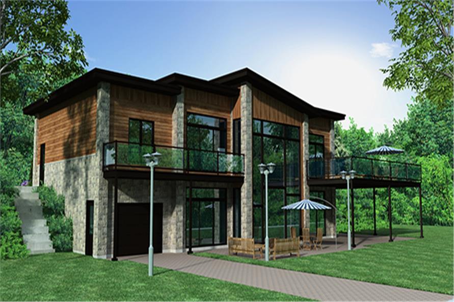 158-1257: Home Plan Rendering