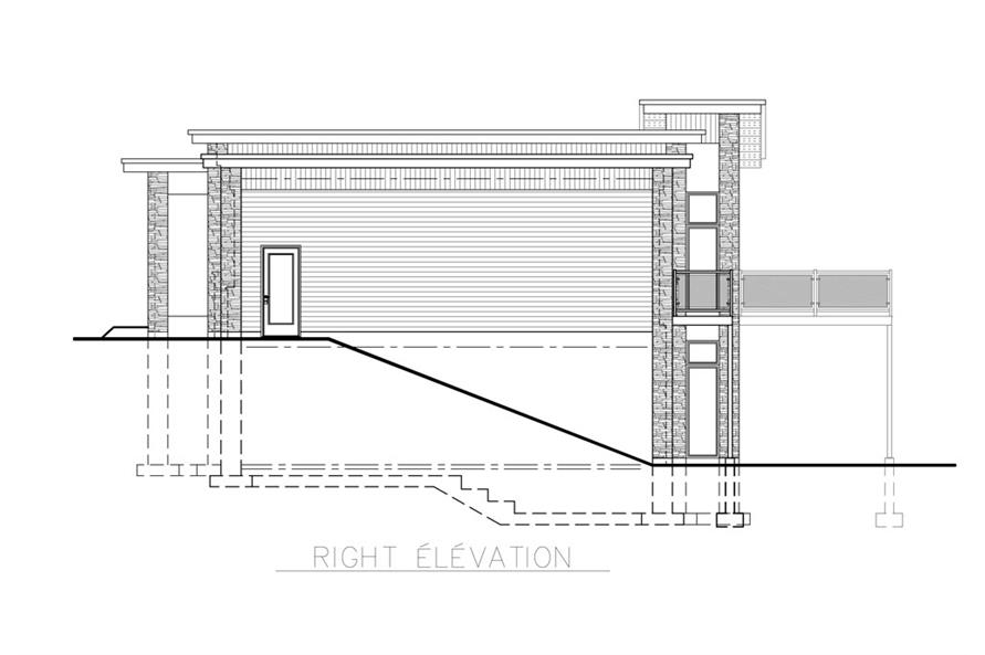 158-1257: Home Plan Right Elevation
