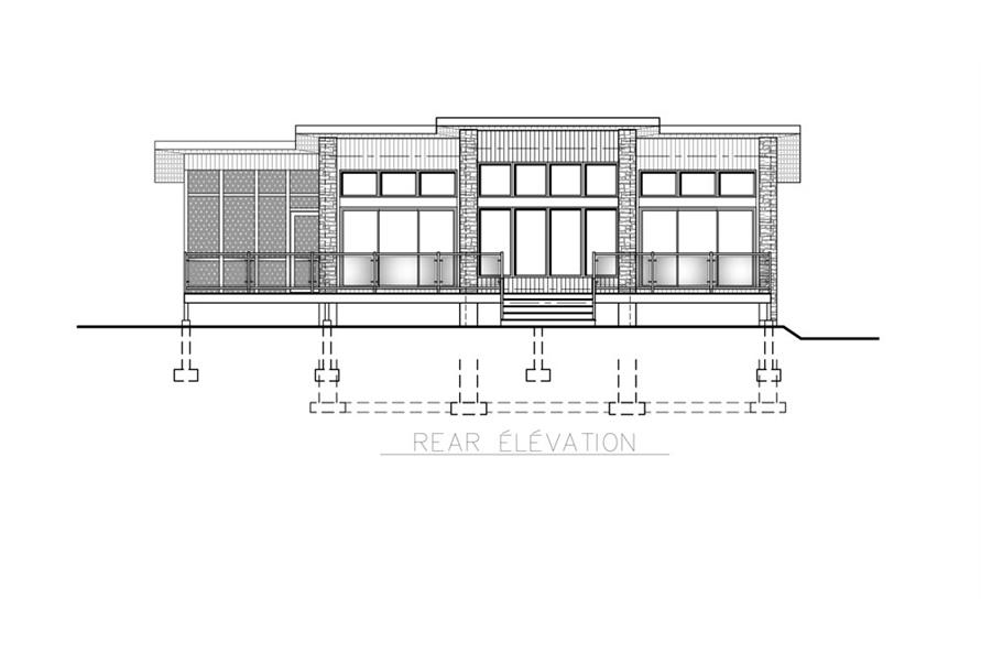 158-1260: Home Plan Rear Elevation