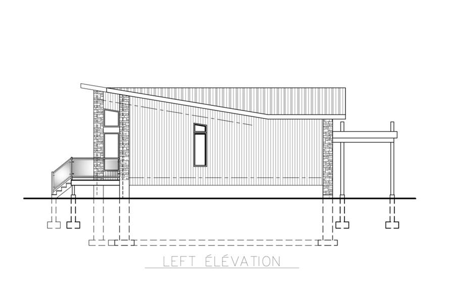 158-1260: Home Plan Left Elevation