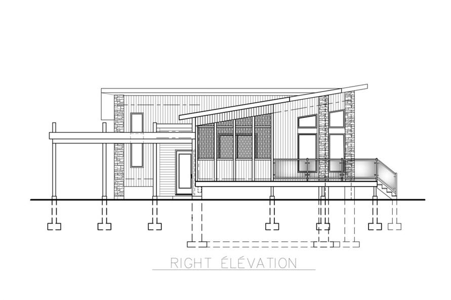 158-1260: Home Plan Right Elevation