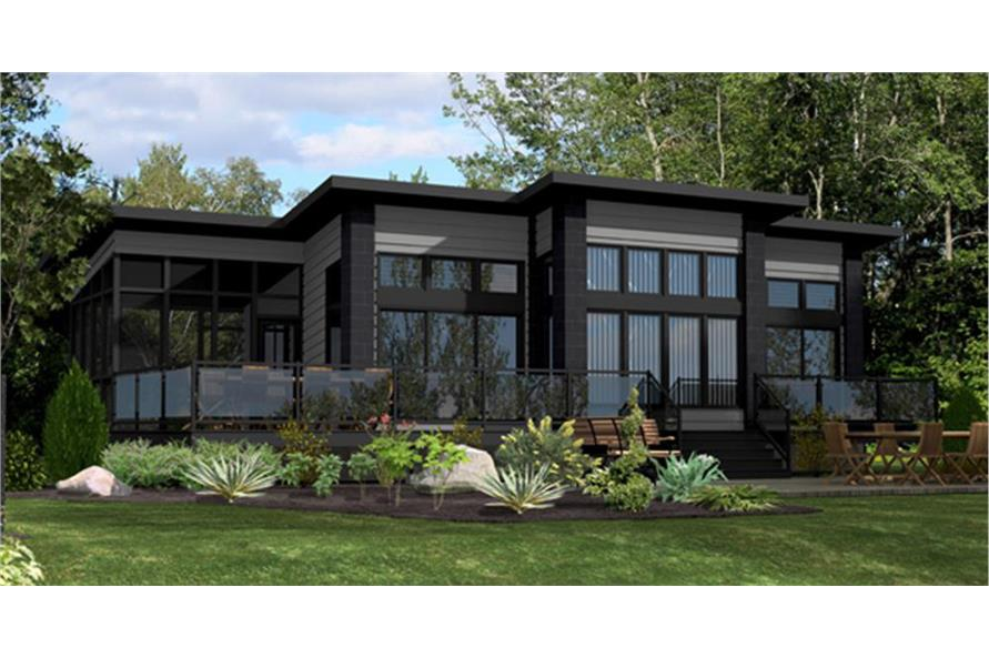 158-1260: Home Plan Front Elevation