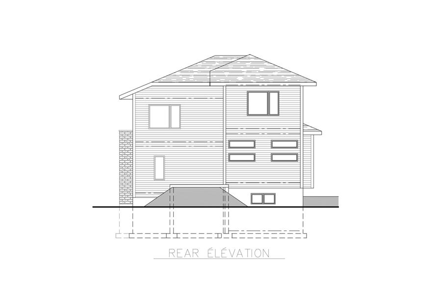 158-1261: Home Plan Rear Elevation