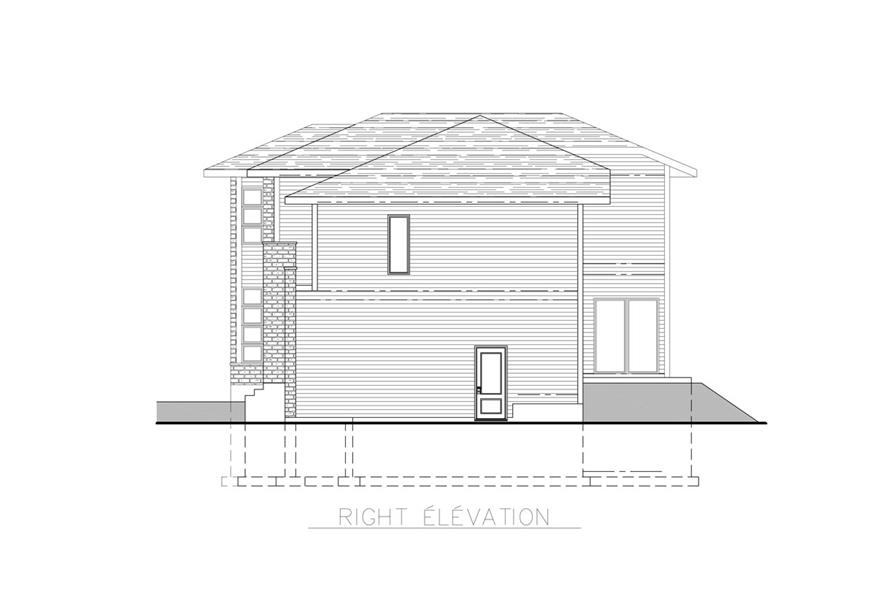 158-1261: Home Plan Right Elevation