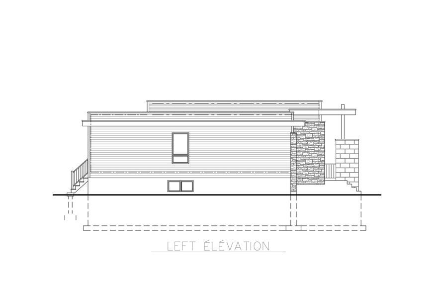 158-1263: Home Plan Left Elevation