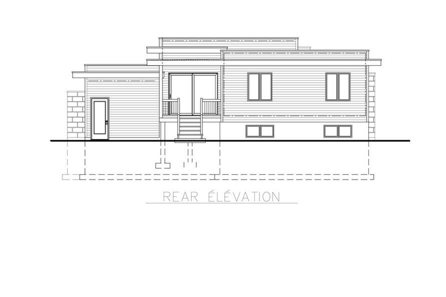 158-1263: Home Plan Rear Elevation