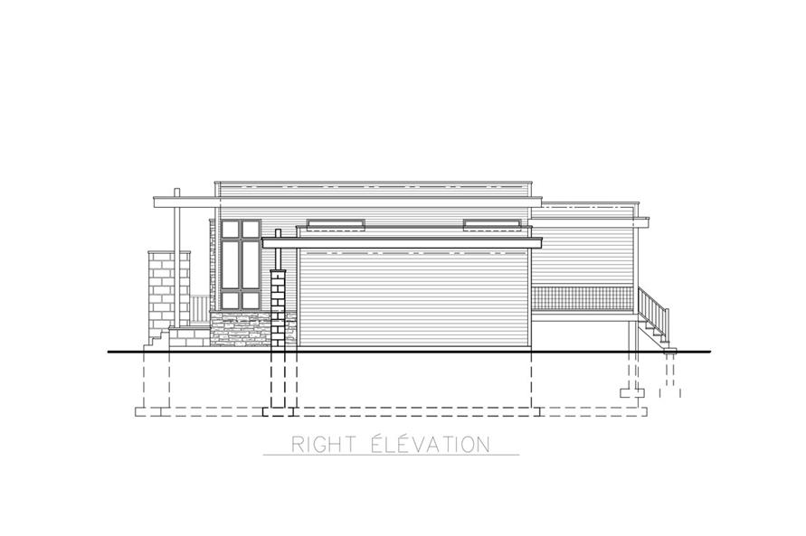 158-1263: Home Plan Right Elevation