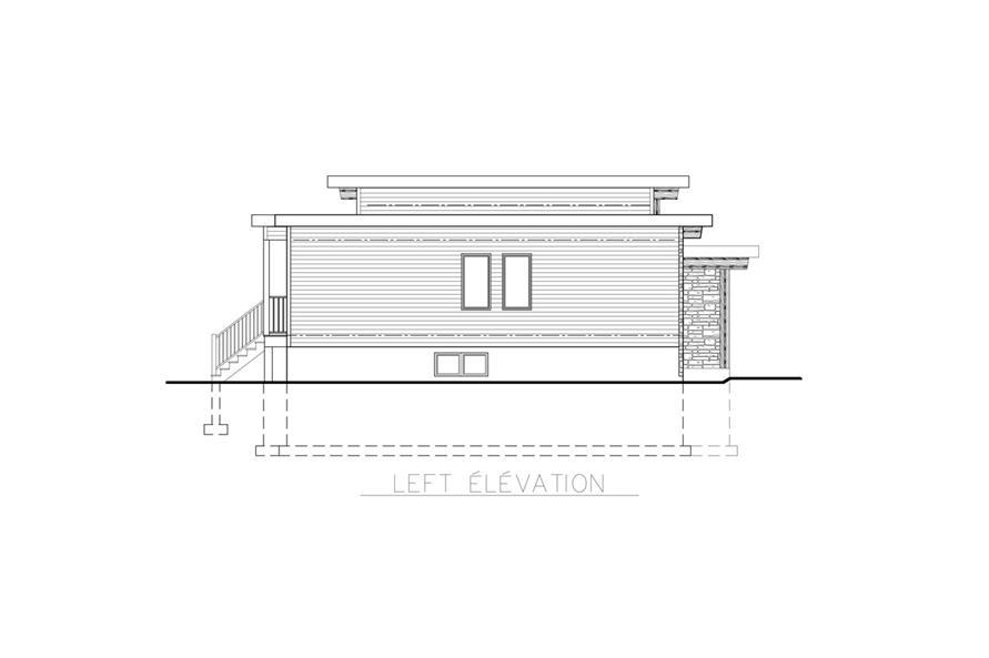 158-1264: Home Plan Left Elevation