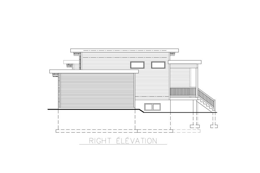 158-1264: Home Plan Right Elevation