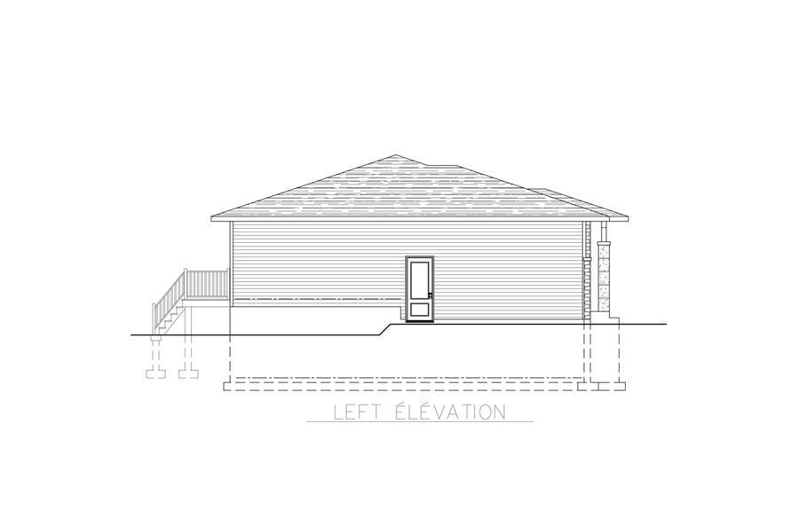 158-1269: Home Plan Left Elevation