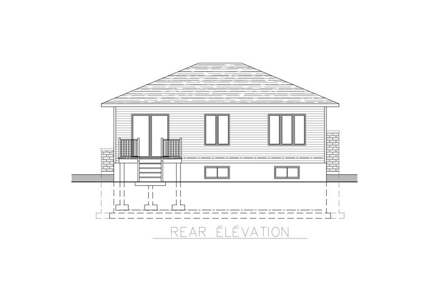 158-1269: Home Plan Rear Elevation