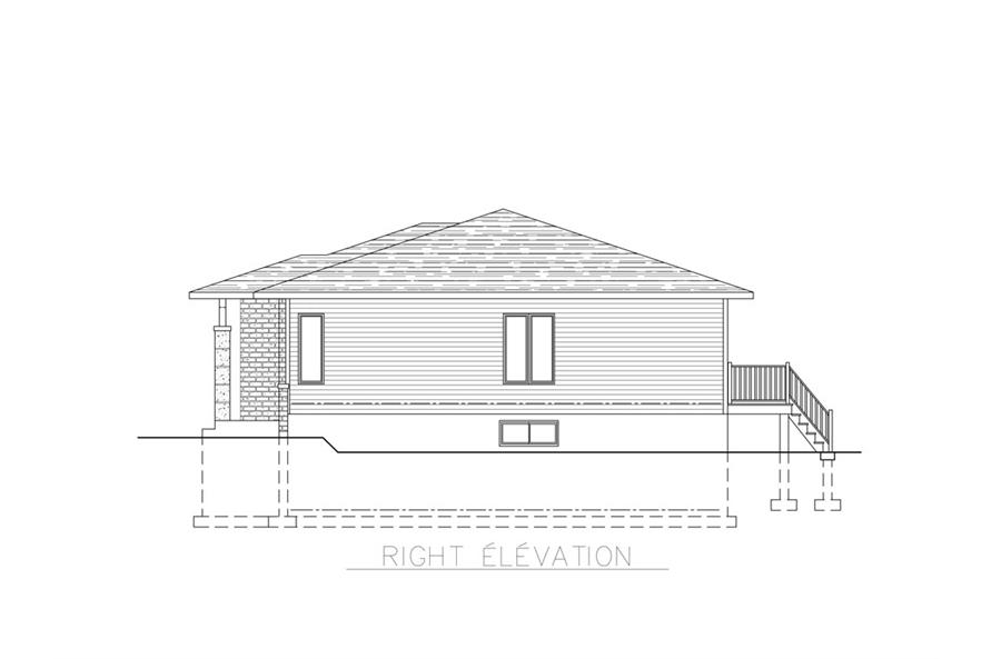 158-1269: Home Plan Right Elevation
