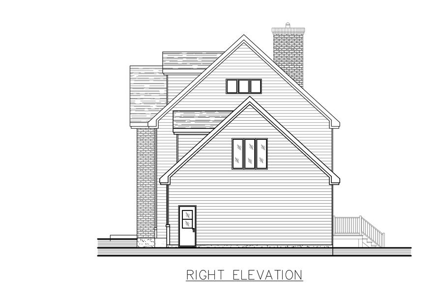 158-1271: Home Plan Right Elevation