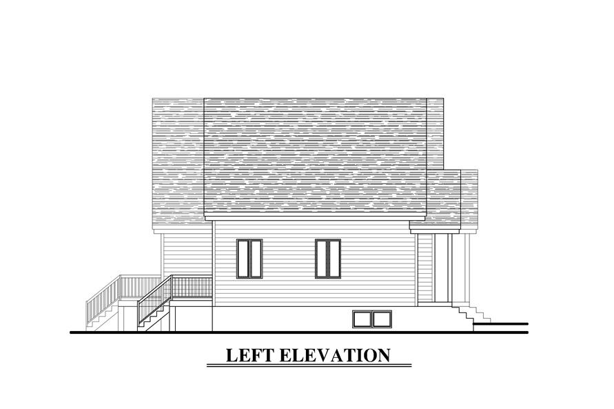 158-1273: Home Plan Left Elevation