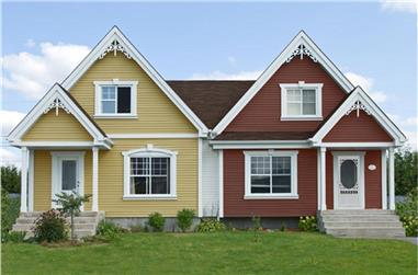 5-Bedroom, 2130 Sq Ft Country Home Plan - 158-1273 - Main Exterior