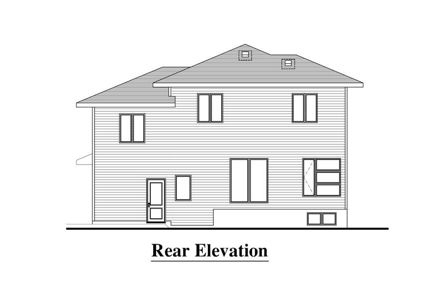 158-1274: Home Plan Rear Elevation