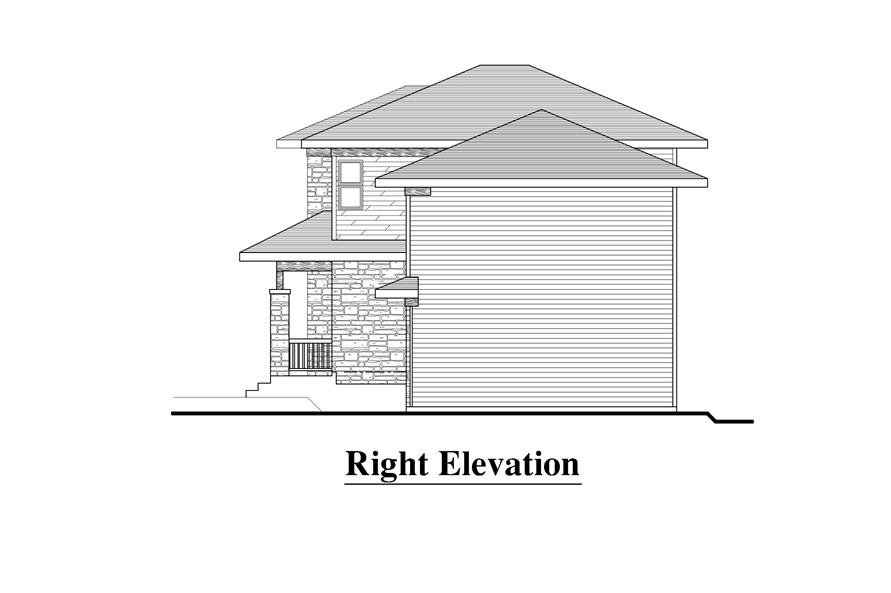 158-1274: Home Plan Right Elevation