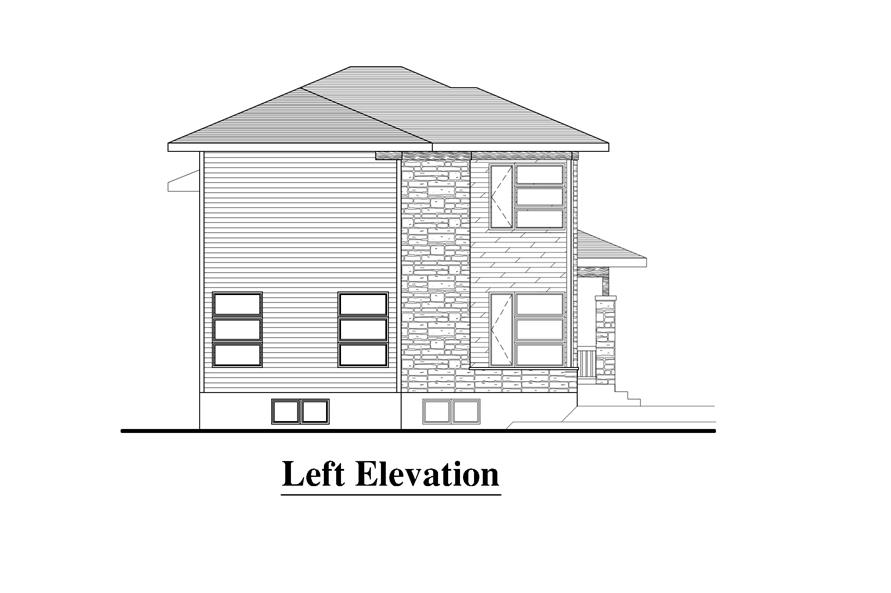 158-1274: Home Plan Left Elevation