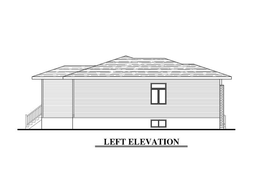 158-1276: Home Plan Left Elevation
