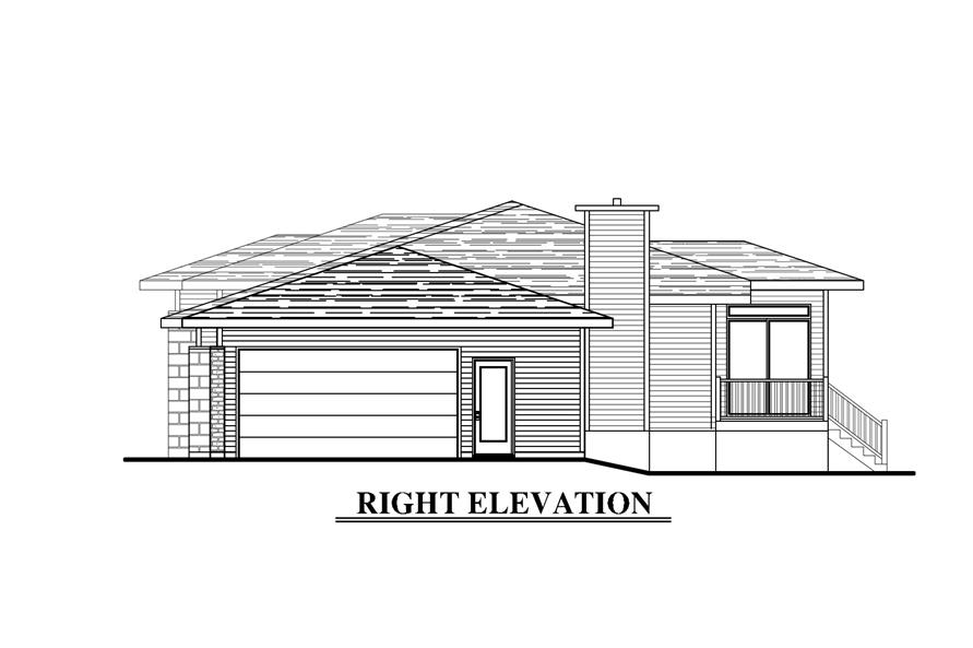 158-1276: Home Plan Right Elevation