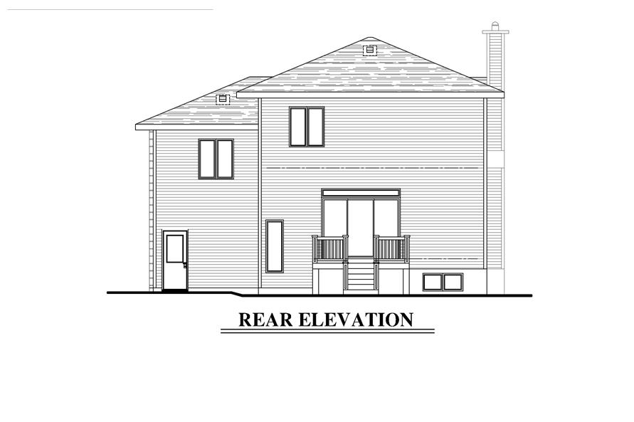 158-1278: Home Plan Rear Elevation