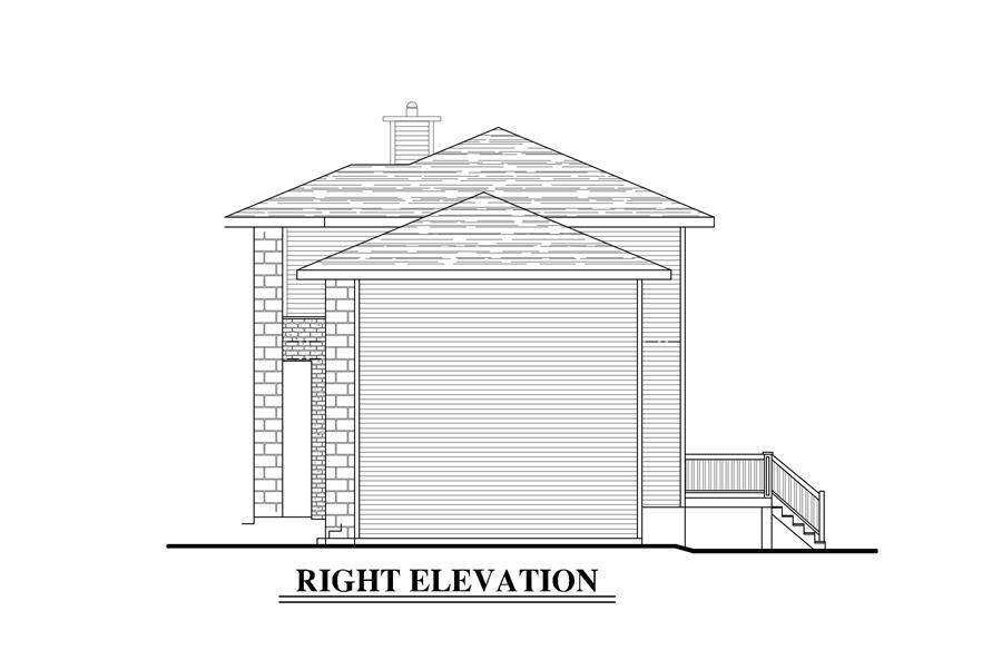 158-1278: Home Plan Right Elevation